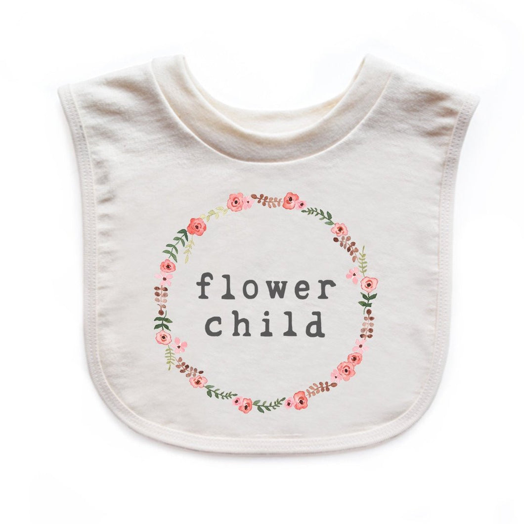 Flower Child | Organic Unbleached Bib