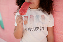 "Organic ""Happy Days"" Popsicles Unbleached Tee"