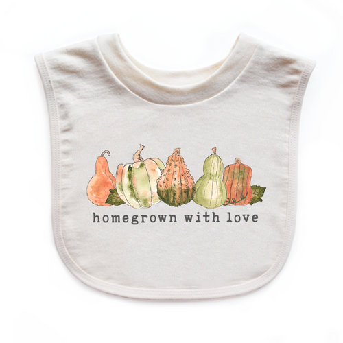 Homegrown with Love® (Gourd Edition) | Organic Unbleached Bib
