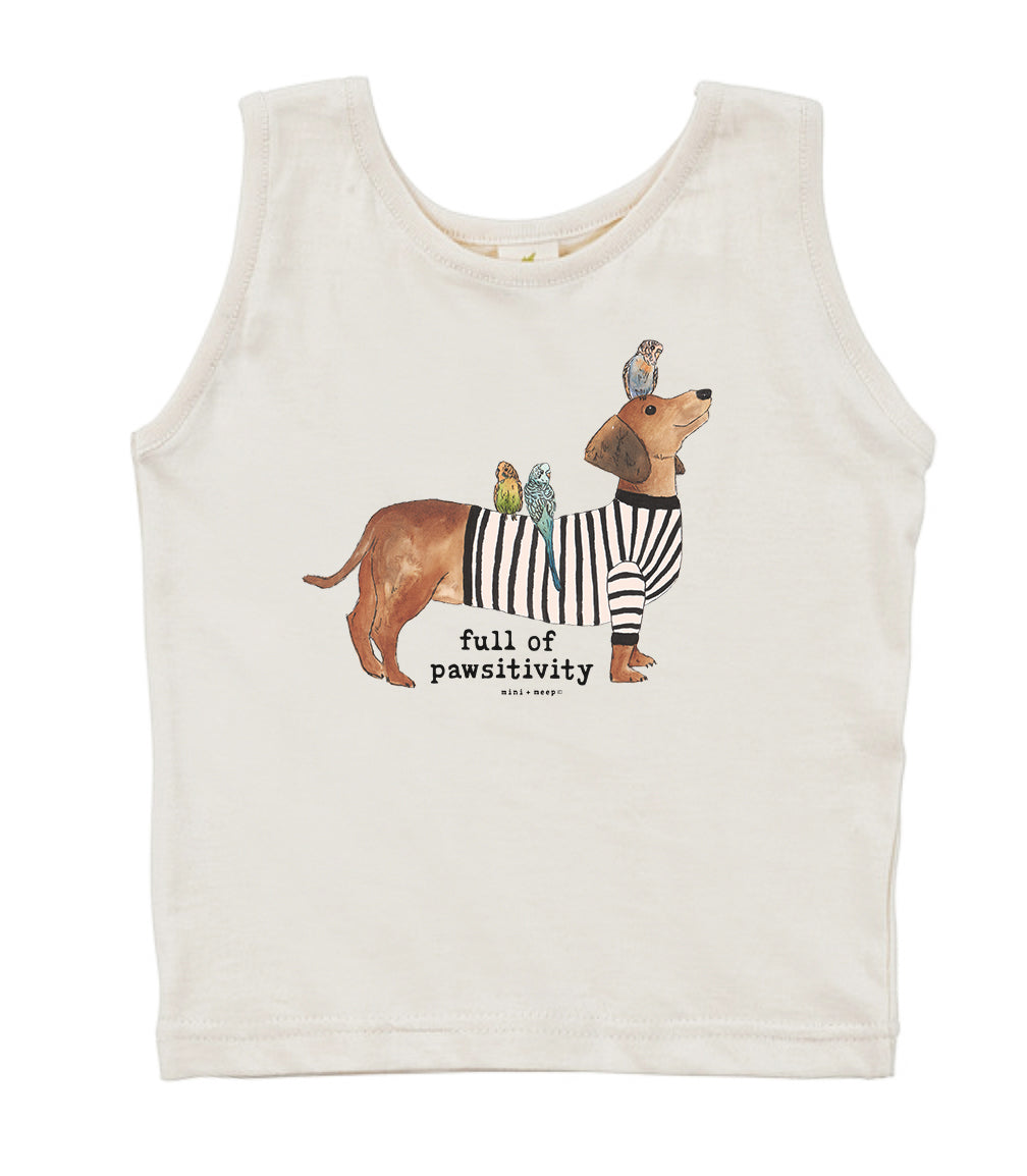 Full of Pawsitivity | Organic Unbleached Tank Top