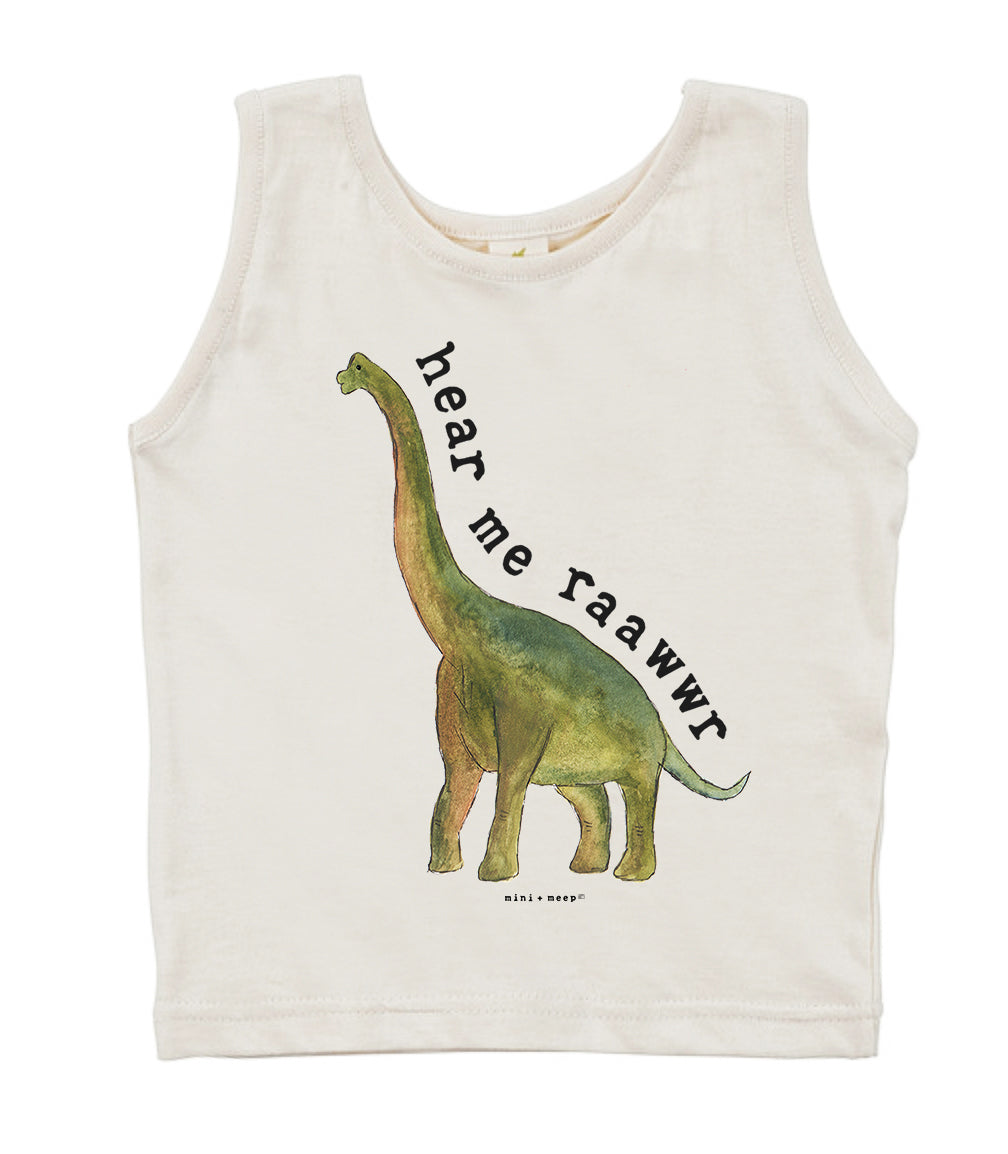 Hear Me Raawwr  | Organic Unbleached Tank Top