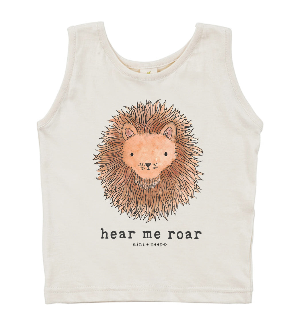 Hear Me Roar  | Organic Unbleached Tank Top
