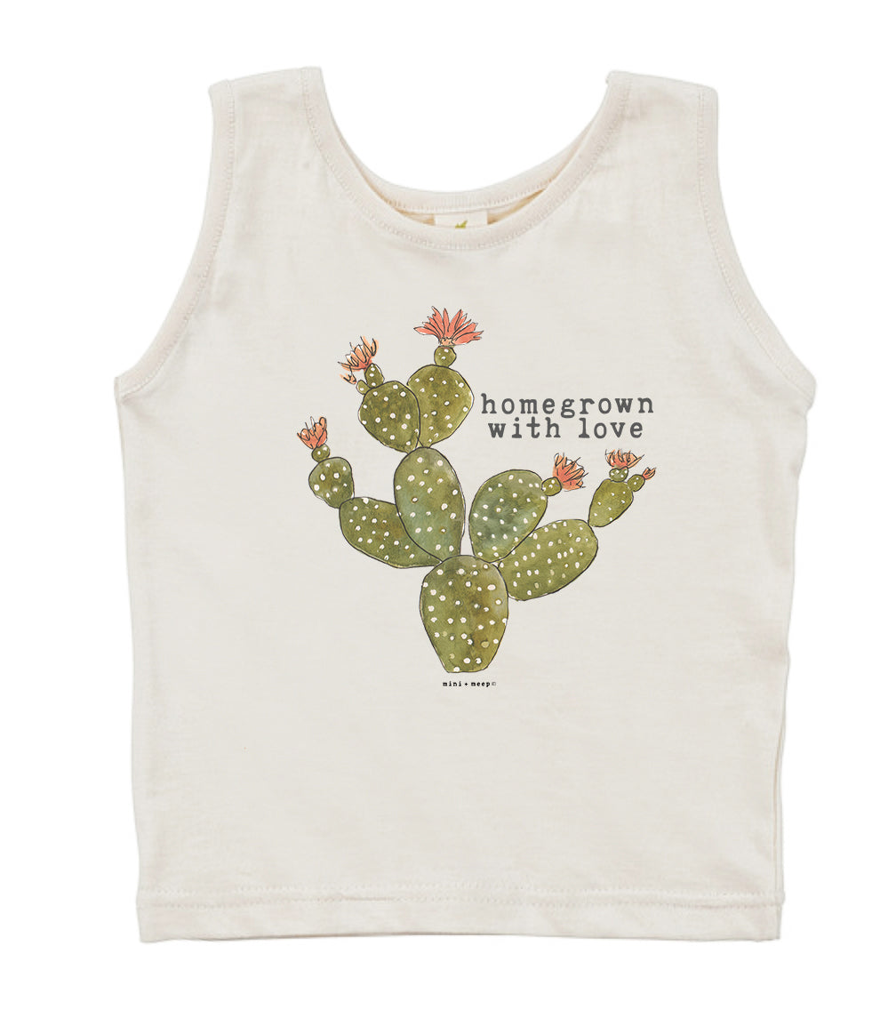 Homegrown with Love (Cactus Edition) | Organic Unbleached Tank Top