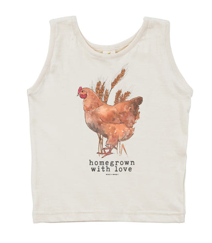 Homegrown with Love (Chicken Edition) | Organic Unbleached Tank Top