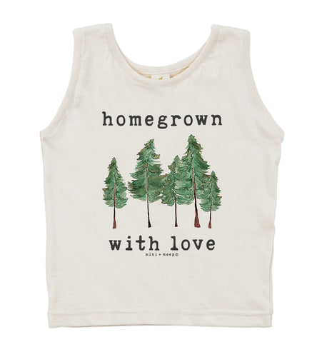 Homegrown with Love (Forest Edition) | Organic Unbleached Tank Top