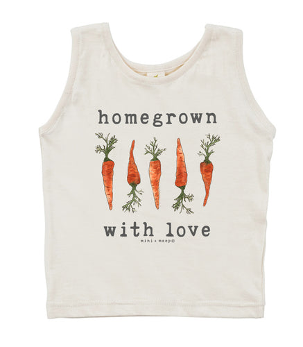 Homegrown with Love (Carrot Edition) | Organic Unbleached Tank Top