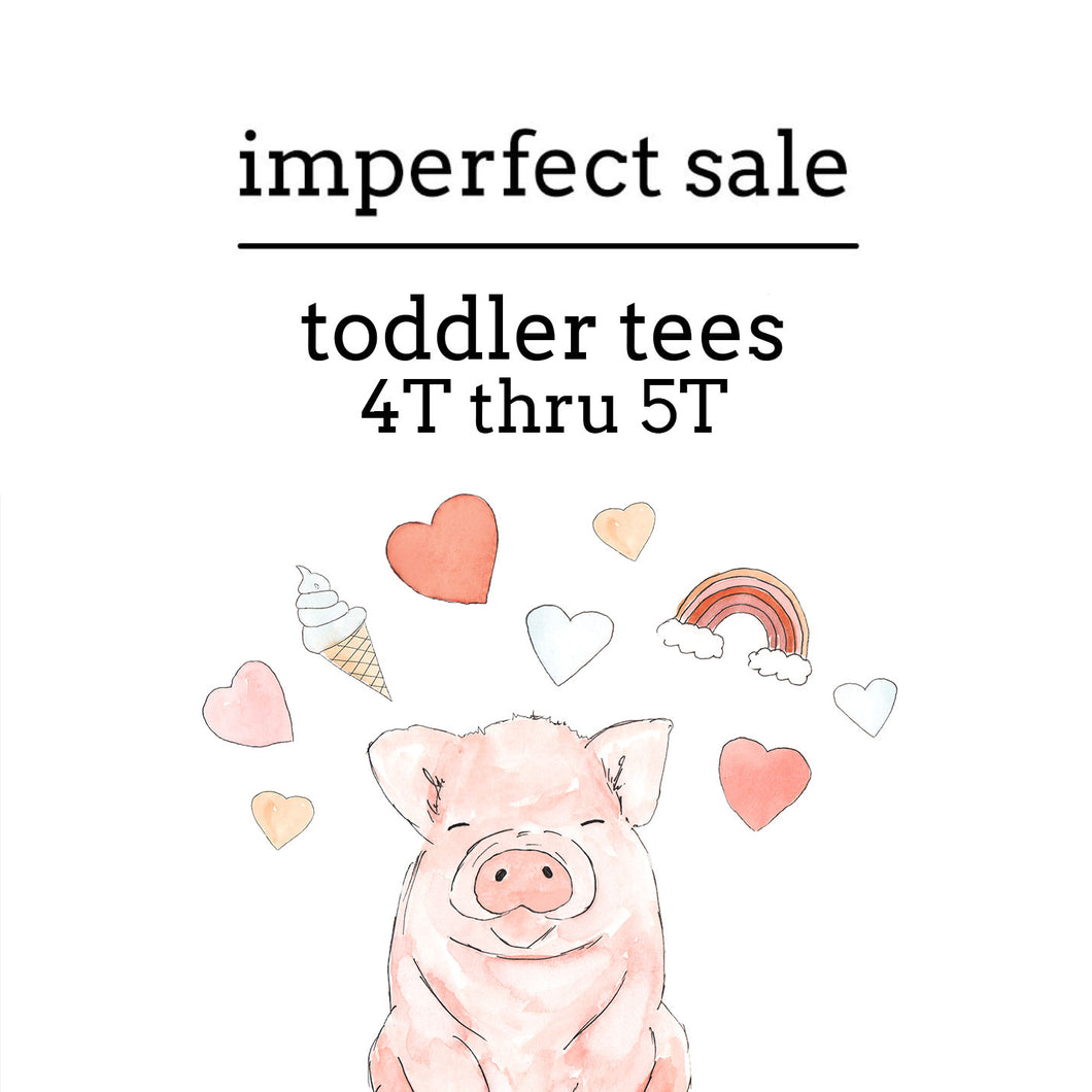 Imperfect Sale | Toddler Tees (4T THRU 5T)