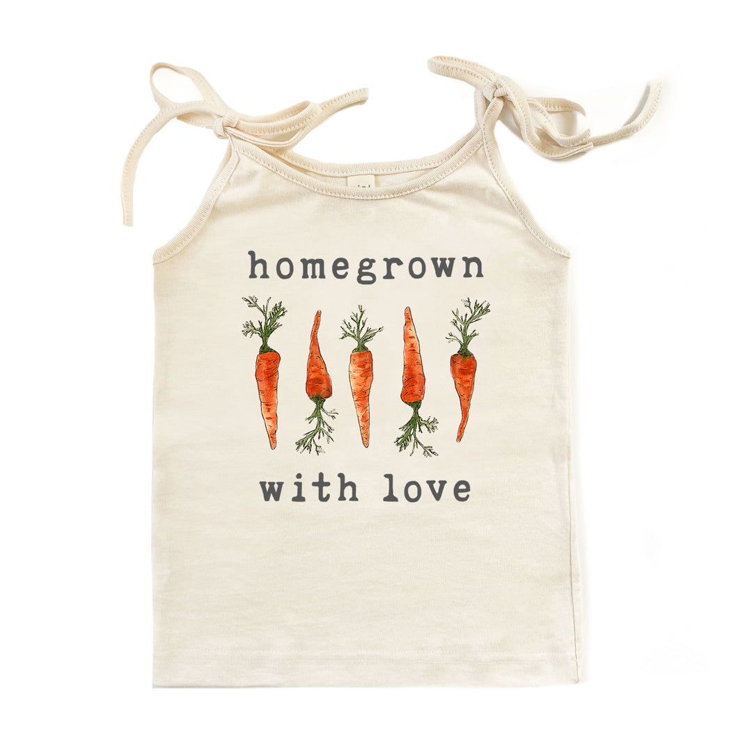 Homegrown with Love™ (Carrot Edition) | Organic Unbleached Tie Tank