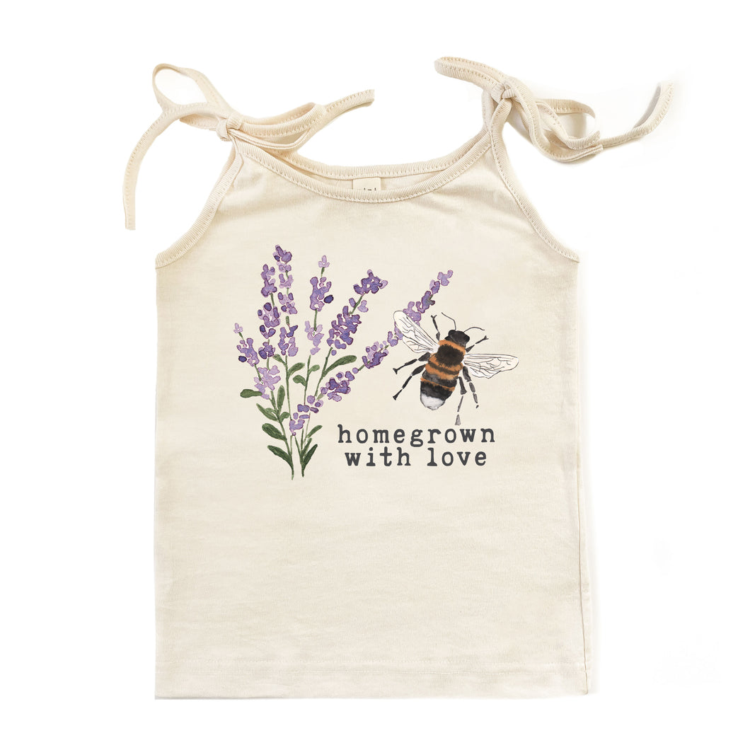 Homegrown with Love™ (Bee Edition) | Organic Unbleached Tie Tank