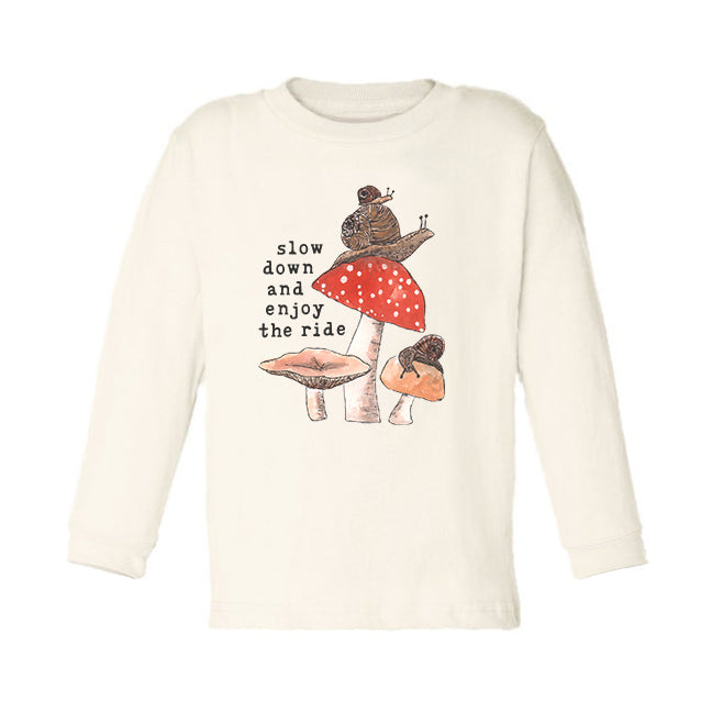 Enjoy the Ride | Organic Unbleached Toddler Tee, Long Sleeve