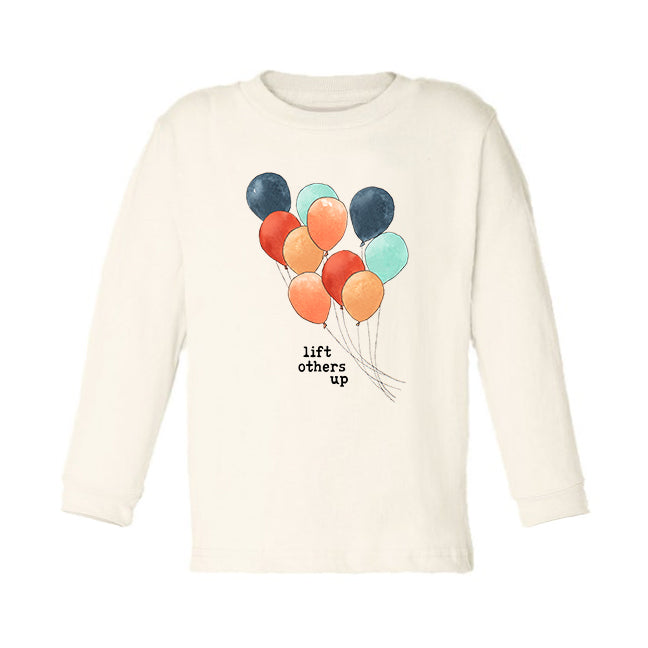 Lift Others Up | Organic Unbleached Toddler Tee, Long Sleeve