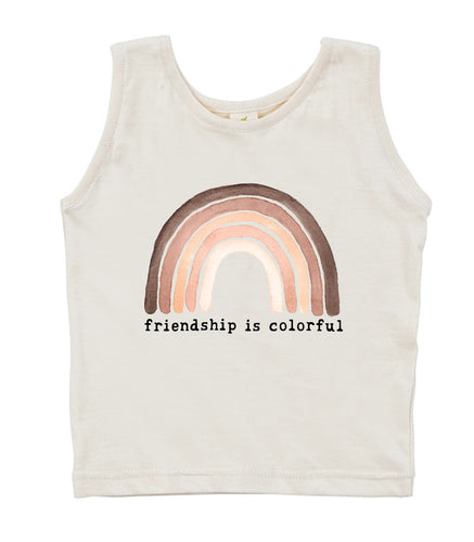 Friendship is Colorful  | Organic Unbleached Tank Top
