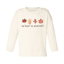 "Organic ""Be-Leaf in Yourself"" Unbleached Toddler Tee, Long Sleeve"