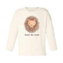 Hear Me Roar | Unbleached Toddler Tee, Long Sleeve