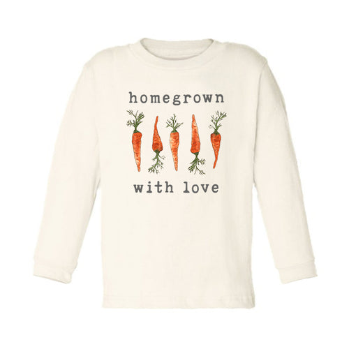 Homegrown with Love™ (Carrot Edition) | Organic Unbleached Toddler Tee, Long Sleeve