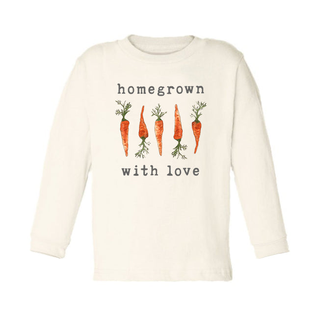 Homegrown with Love (Carrot Edition) | Organic Unbleached Toddler Tee, Long Sleeve