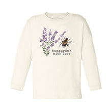 "Organic ""Homegrown with Love"" Bee Edition Unbleached Toddler Tee, Long Sleeve"