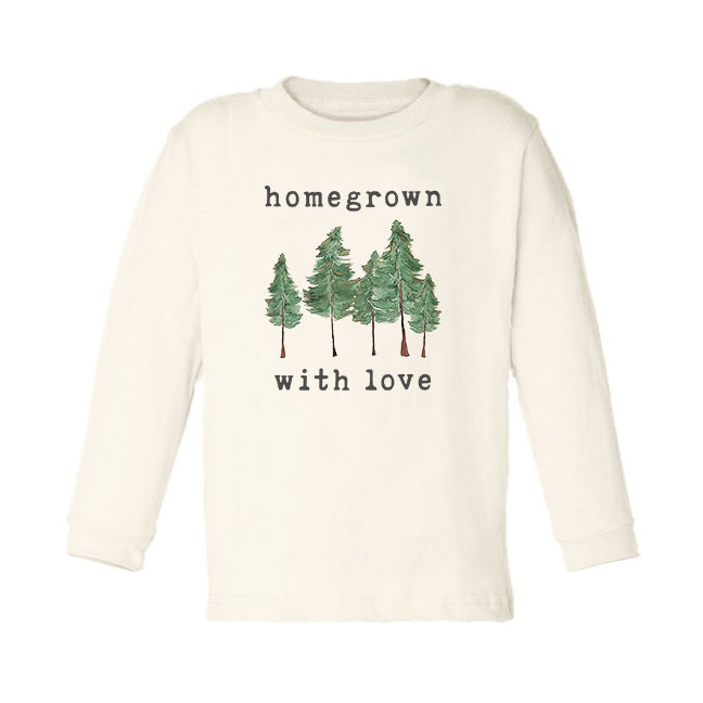 Homegrown with Love™ (Forest Edition) | Organic Unbleached Toddler Tee, Long Sleeve