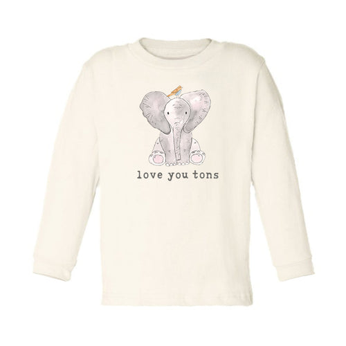 Love You Tons | Organic Unbleached Toddler Tee, Long Sleeve