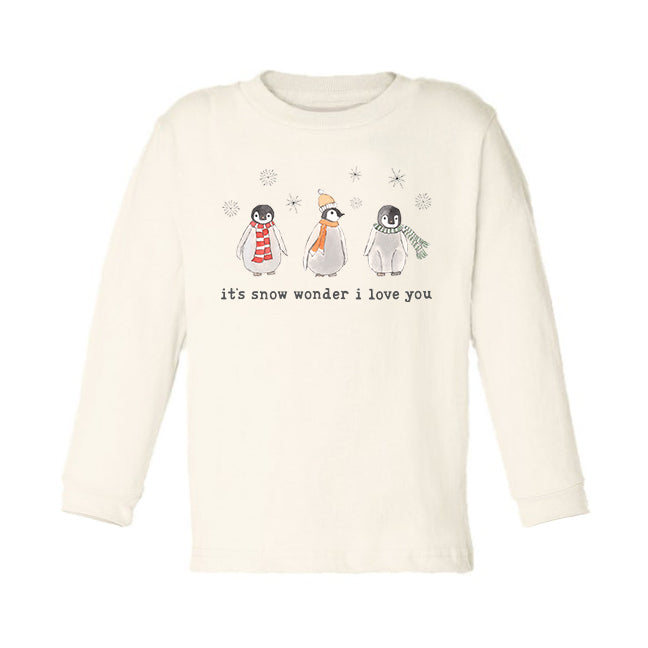 It's Snow Wonder I Love You | Organic Unbleached Toddler Tee, Long Sleeve