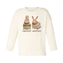 "Organic ""Sweater Weather"" Unbleached Toddler Tee, Long Sleeve"