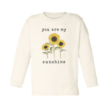 "Organic ""You Are My Sunshine"" Unbleached Toddler Tee, Long Sleeve"