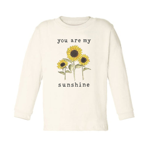 You Are My Sunshine | Organic Unbleached Toddler Tee, Long Sleeve