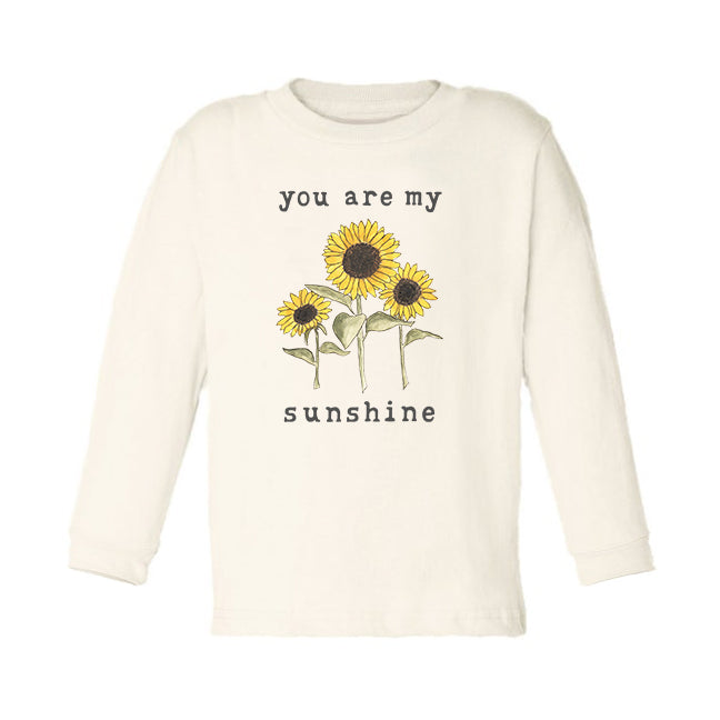 You Are My Sunshine | Unbleached Toddler Tee, Long Sleeve