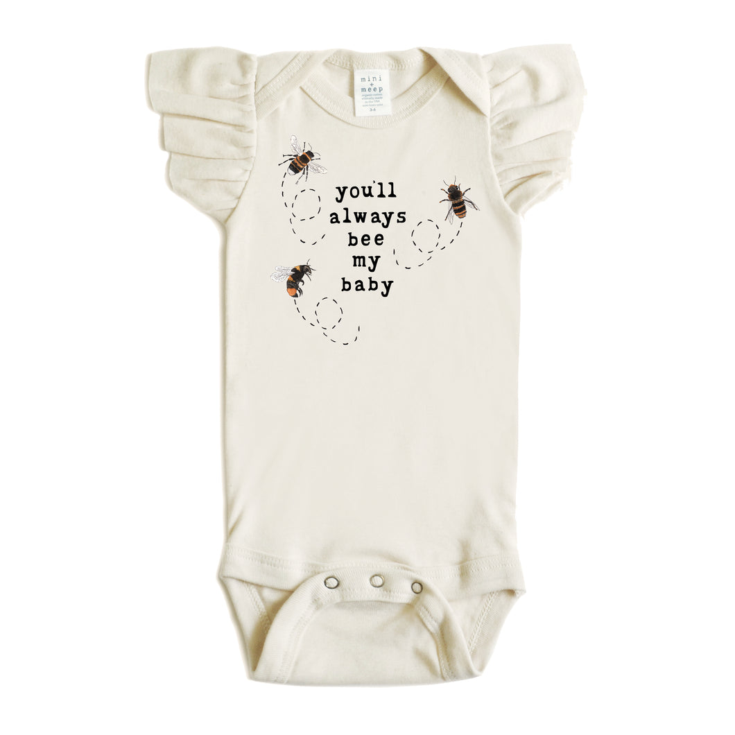 You'll Always Bee My Baby | Flutter Sleeve Snappie