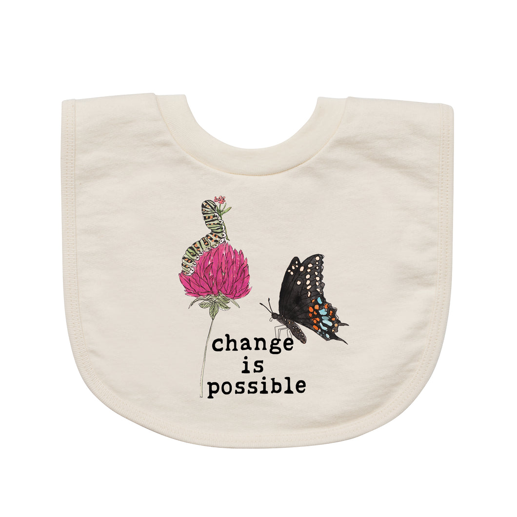 Change is Possible | Organic Unbleached Bib