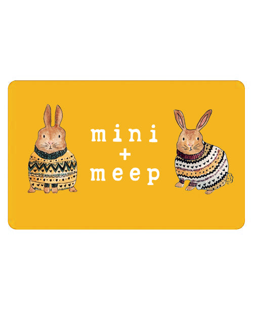 mini + meep gift card (select your amount)