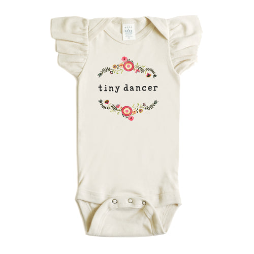 Tiny Dancer | Organic Unbleached Flutter Sleeved Snappie