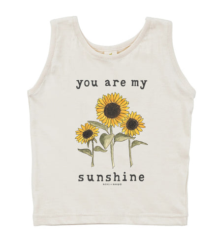 You Are My Sunshine | Organic Unbleached Tank Top