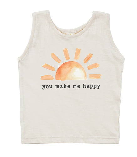 You Make Me Happy | Organic Unbleached Tank Top