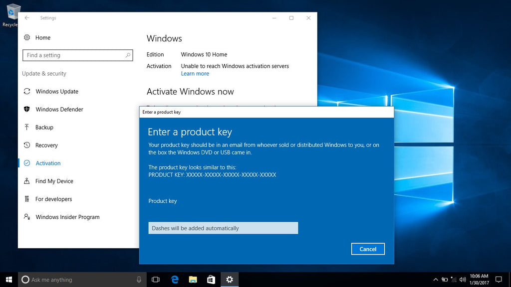 Refurbit knowledge library about fixing computer laptop windows 10 activation step by step ccuart Images