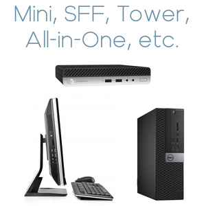 Refurbished Desktops Collection in famous brands-Dell-Hp-Lenovo