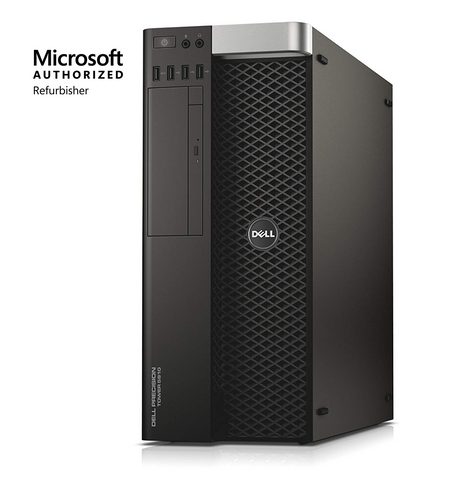 Dell Precision T5810 Tower, Intel Xeon E5-1603, 16GB, 128GB & 500GB, Win10 Pro. (Refurbished)