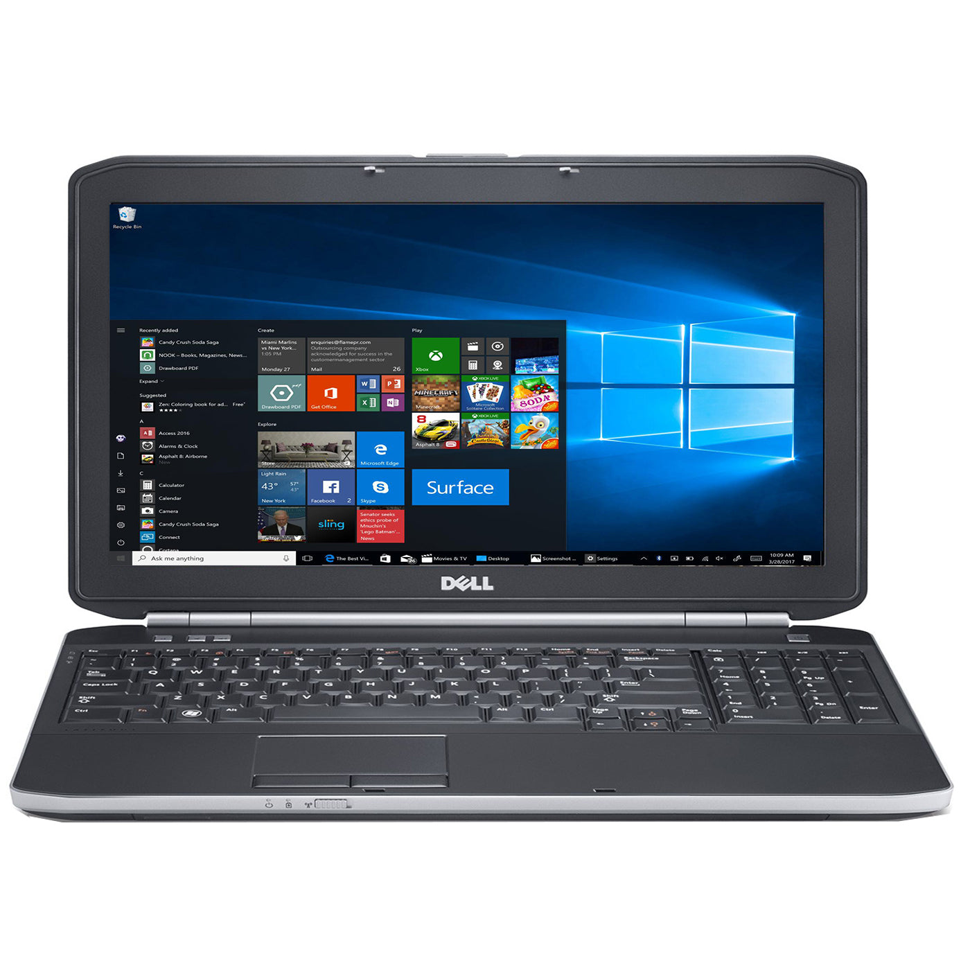 "Dell Latitude e5530 15.6"" Laptop, Intel Core i5, 8GB RAM, 320GB HDD, Win10 Pro. Refurbished"