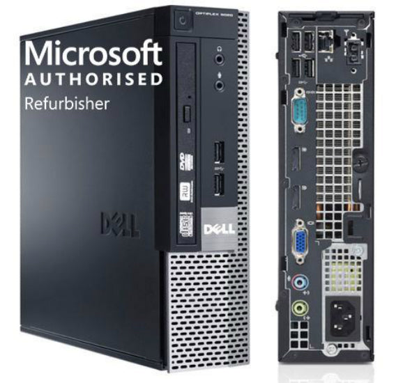 Dell 9020 USFF Desktop Computer Microsoft Authorized Refurbisher