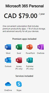 Microsoft 365 Personal Details