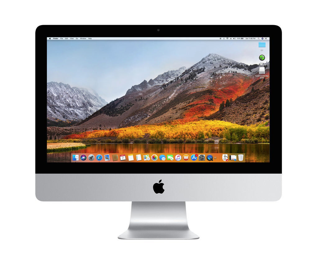 "Apple iMac A1311-2308, 21.5"" All-in-One, Intel Core 2 Duo, 4GB RAM, 500GB HDD, High Sierra OS"