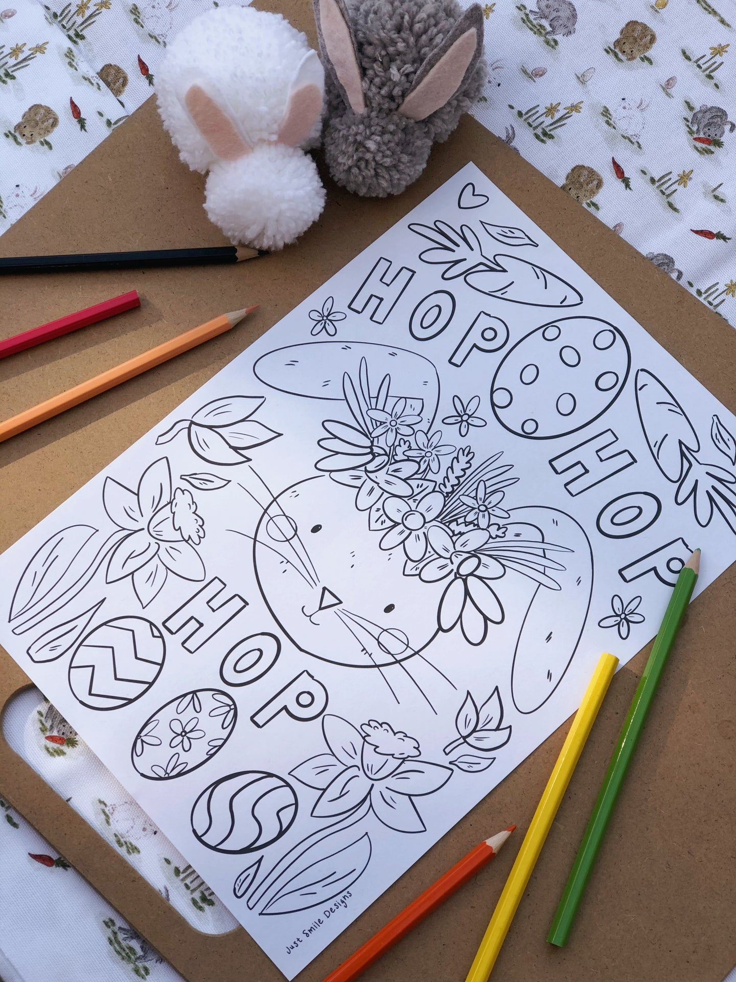 Free Downloadable Colouring Page - Easter