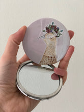 Female Pheasant Pocket Mirror