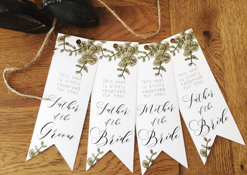 Eucalyptus Seating Tags
