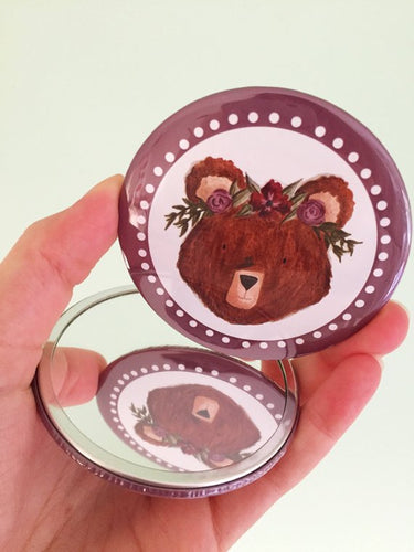 Bear Pocket Mirror