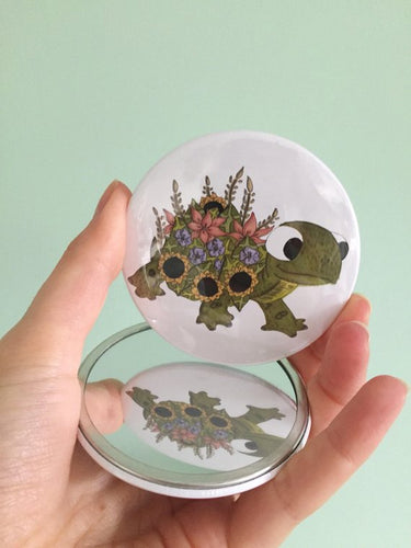 Tortoise Pocket Mirror