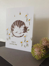 Daisy Tabby Cat Birthday Card