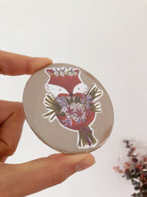 Fox Floral Bouquet Pocket Mirror