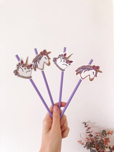 unicorn cake straws