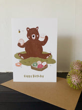 Doughnut Bear Birthday Card